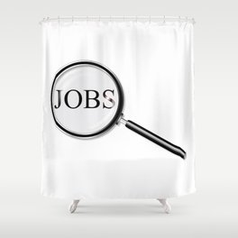 Jobs Magnifying Glass Shower Curtain