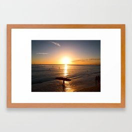 The end of a good day Framed Art Print
