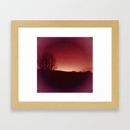 Red Sunset Framed Art Print