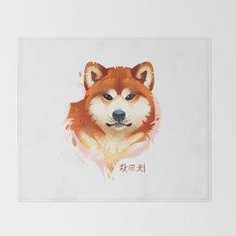 Akita Stylistic Portrait Throw Blanket