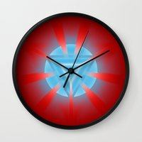 ironman Wall Clocks featuring Ironman by Some_Designs