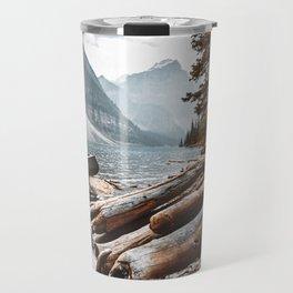 Moraine Lake at banff Travel Mug