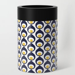 Retro Avocado Blue Can Cooler