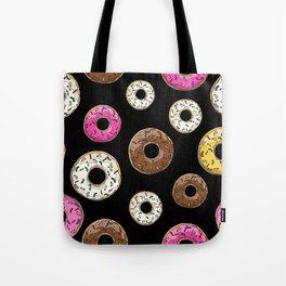 Funfetti Donuts - Black Tote Bag