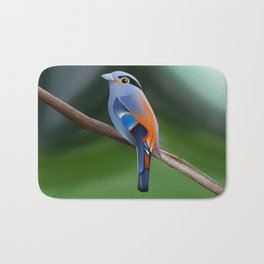 Silver-breasted broadbill Bird Bath Mat