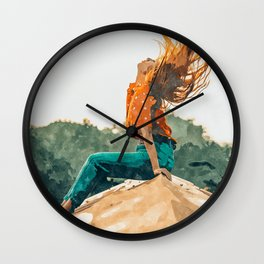 Live Free #painting Wall Clock