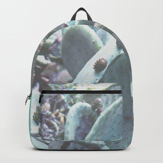 Green Flowering Cacti Backpack