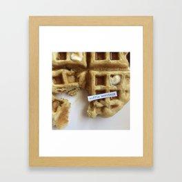 waffle mornings Framed Art Print