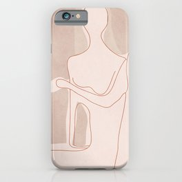 Abstract Woman Figure iPhone Case