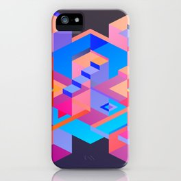Cubic Inversion III iPhone Case