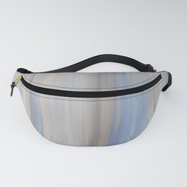 Modern Abstract Blue Lilac Gray Brushstrokes Stripes Fanny Pack