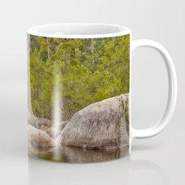 Peaceful river view with rocks Coffee Mug