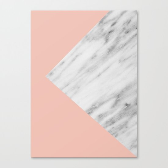 Pink Marble Collage Canvas Print