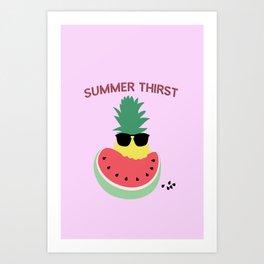 Summer thirst Art Print