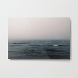 Lake Michigan Fog Metal Print
