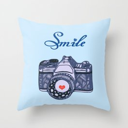 Let Your Smile Change the World.  Throw Pillow