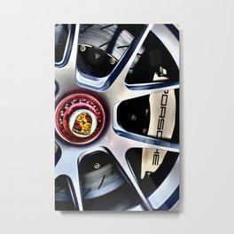 Porsche Wheel Metal Print