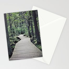Boardwalk with natural arch Stationery Cards