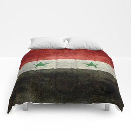 National flag of Syria - vintage Comforters