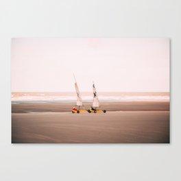 Land yachting sport Touquet Canvas Print
