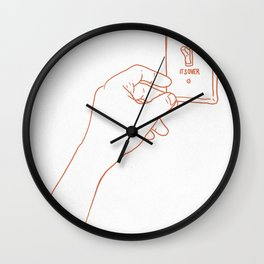 The Emotional Light Switch Wall Clock