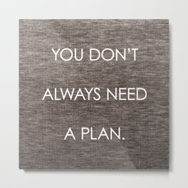 Plan Metal Print