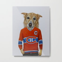dog in sportwear Metal Print
