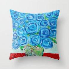 I'm Feeling Blue Throw Pillow