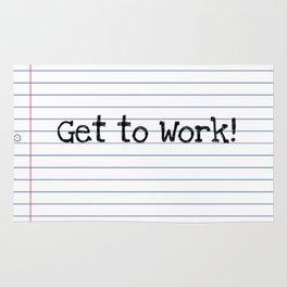 Get To Work! | Teacher Art Rug