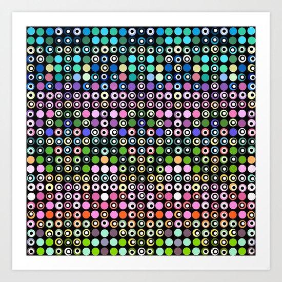 Dot Matrix... Art Print