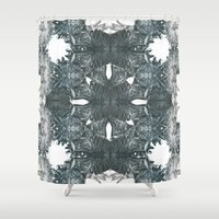 flight Shower Curtains featuring Flight by Lily Mandaliou