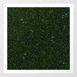 C13D Green Glitter Art Print