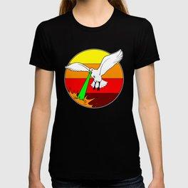 Laser Seagull Funny Retro Seagull Design T-shirt