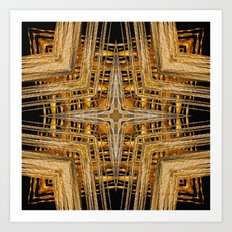 Gold and Silver Art Print