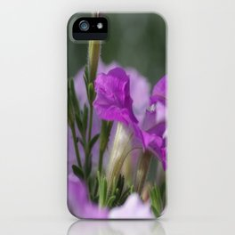 Blossoms in purple iPhone Case