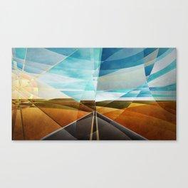 Highway 518, north of Tucumcari, New Mexico Canvas Print