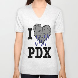 I Heart PDX Unisex V-Neck