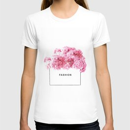Fashion, Flowers, Pink, Modern, Minimal, Interior, Wall art T-shirt