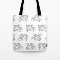 birdman Tote Bags featuring Fat Birdman by Davide Caviglia