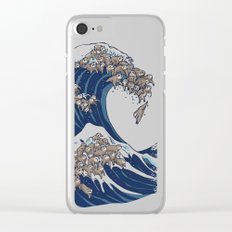 The Great Wave of Sloth Clear iPhone Case