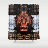 animal crew Shower Curtains featuring Animal by Zandonai