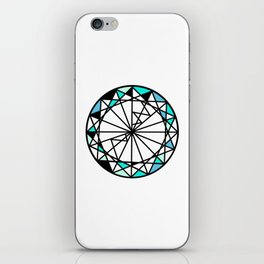 Sapphire blue diamond - circle iPhone Skin