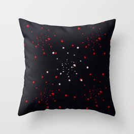 points rouges blancs  Throw Pillow