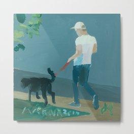 Dog Walker Metal Print