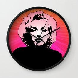 Marilyn Monroe - Shine - Pop Art Wall Clock