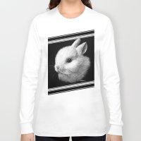 bunny Long Sleeve T-shirts featuring Bunny by Creadoorm