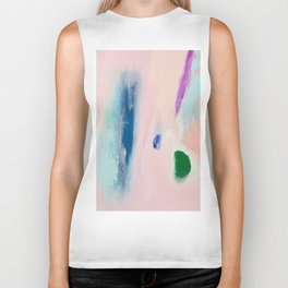 WATERMELON // ABSTRACT MIXED MEDIA ON CANVAS Biker Tank