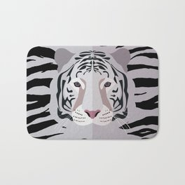 White Tiger Bath Mat