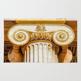 capital of Ionian column Rug