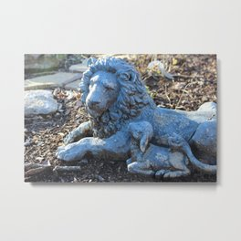 Lion and the Lamb Metal Print